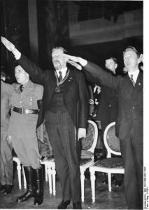 Fischer Salutes his Fuhrer