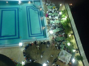 Kurdish Wedding, Seen from Hotel Window, Urfa