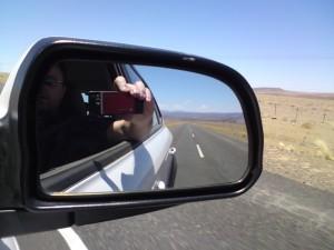 Me, Driving, Namibia