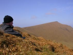 Me on Foula, contemplating another horrible climb