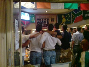 Basques Singing, in Biarritz, before the Rugby World Cup
